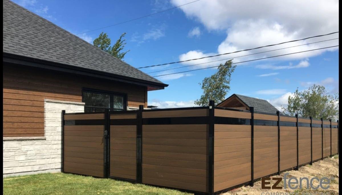 clôture en composite couleur bois