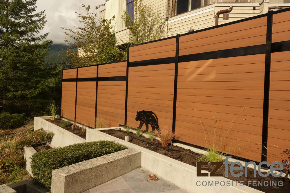 clôture en composite haute